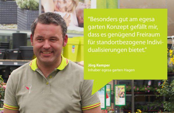 Jörg Kemper, Inhaber egesa garten Hagen